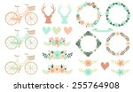 Set Of Floral Wedding Clipart....