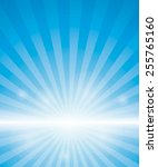 Blue Background With Sunburst....