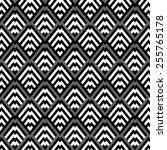 seamless black and white pattern   Shutterstock .eps vector #255765178