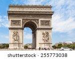 arc de triomphe  arch of...   Shutterstock . vector #255773038
