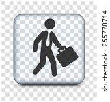 businessman on transparent...   Shutterstock .eps vector #255778714