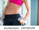 gorgeou woman girl lifting some ... | Shutterstock . vector #255783190