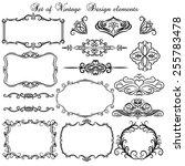 set of vintage decorative... | Shutterstock .eps vector #255783478