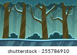 winter forest cartoon background | Shutterstock .eps vector #255786910