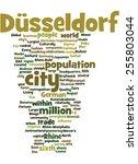 dusseldorf vertical word cloud... | Shutterstock .eps vector #255803044
