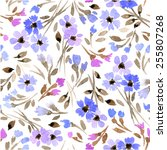 beautiful seamless floral... | Shutterstock .eps vector #255807268