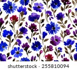 vector pattern with flowers and ... | Shutterstock .eps vector #255810094