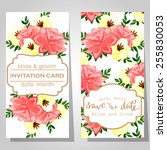 wedding invitation cards with... | Shutterstock . vector #255830053