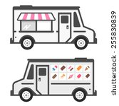 ice cream truck illustration... | Shutterstock .eps vector #255830839