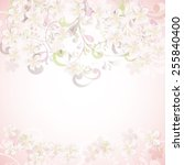 cherry blossom flowers... | Shutterstock .eps vector #255840400