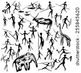 Set Of Vector Rock Paintings...