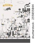 vector concept   power station  ...   Shutterstock .eps vector #255855844