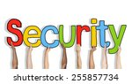 security word concepts isolated ... | Shutterstock . vector #255857734