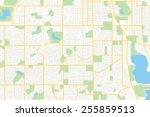 streets on the plan   vector... | Shutterstock .eps vector #255859513