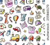 baby seamless pattern for your...   Shutterstock .eps vector #255860170