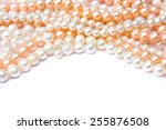 Pearls On A White Background
