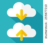 cloud icons set. cloud icons... | Shutterstock .eps vector #255877210
