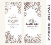 bread vertical vintage banners. ...   Shutterstock .eps vector #255889219