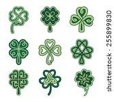 celtic clover patterns. clover... | Shutterstock .eps vector #255899830