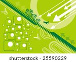 the earth and direction. | Shutterstock .eps vector #25590229