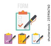 vector form icons set. isolated ... | Shutterstock .eps vector #255906760
