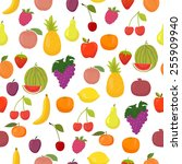 vector seamless pattern with... | Shutterstock .eps vector #255909940