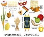 jewish holidays icons israeli... | Shutterstock .eps vector #255910213