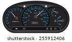 black and blue car dashboard... | Shutterstock .eps vector #255912406