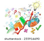 produce devise and success in... | Shutterstock . vector #255916690