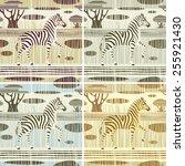 seamless striped backgrounds... | Shutterstock .eps vector #255921430