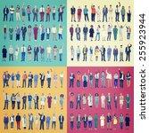 jobs people diversity work... | Shutterstock . vector #255923944