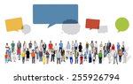 diverse diversity ethnic... | Shutterstock . vector #255926794