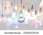 light bulb idea illustration | Shutterstock . vector #255932914
