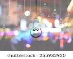 light bulb idea illustration | Shutterstock . vector #255932920