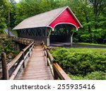 The Flume Covered Bridge Is A...