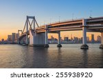 sunset at rainbow bridge with... | Shutterstock . vector #255938920