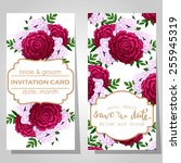 wedding invitation cards with... | Shutterstock .eps vector #255945319