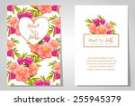 wedding invitation cards with... | Shutterstock .eps vector #255945379