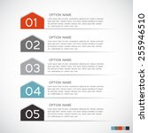 infographic templates for... | Shutterstock .eps vector #255946510