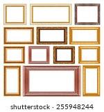 group of wood frame  | Shutterstock . vector #255948244