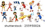 people engaging in different... | Shutterstock .eps vector #255950026