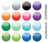 round shiny spheres vector set. | Shutterstock .eps vector #255950680