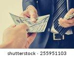 hand receiving money  us...   Shutterstock . vector #255951103