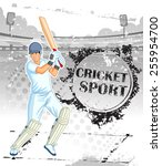 player playing game of cricket... | Shutterstock .eps vector #255954700