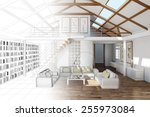 room planning for living room... | Shutterstock . vector #255973084