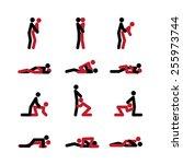 set of sex positions | Shutterstock .eps vector #255973744