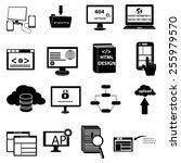 web development programming... | Shutterstock .eps vector #255979570