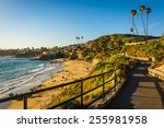 walkway and view of the pacific ... | Shutterstock . vector #255981958