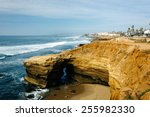 Cave And Cliffs Along The...