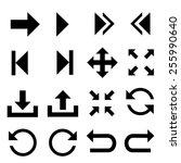 arrow symbol icons.vector | Shutterstock .eps vector #255990640